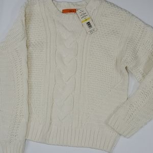 One A fisherman's cable sweater creme thick Medium